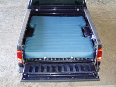 truck bed air mattress custom shapes